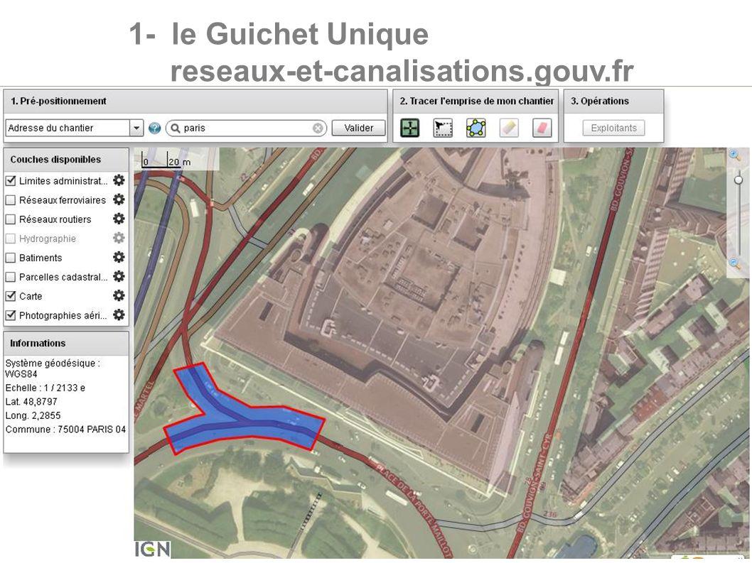 7 1- le Guichet Unique reseaux-et-canalisations.gouv.fr