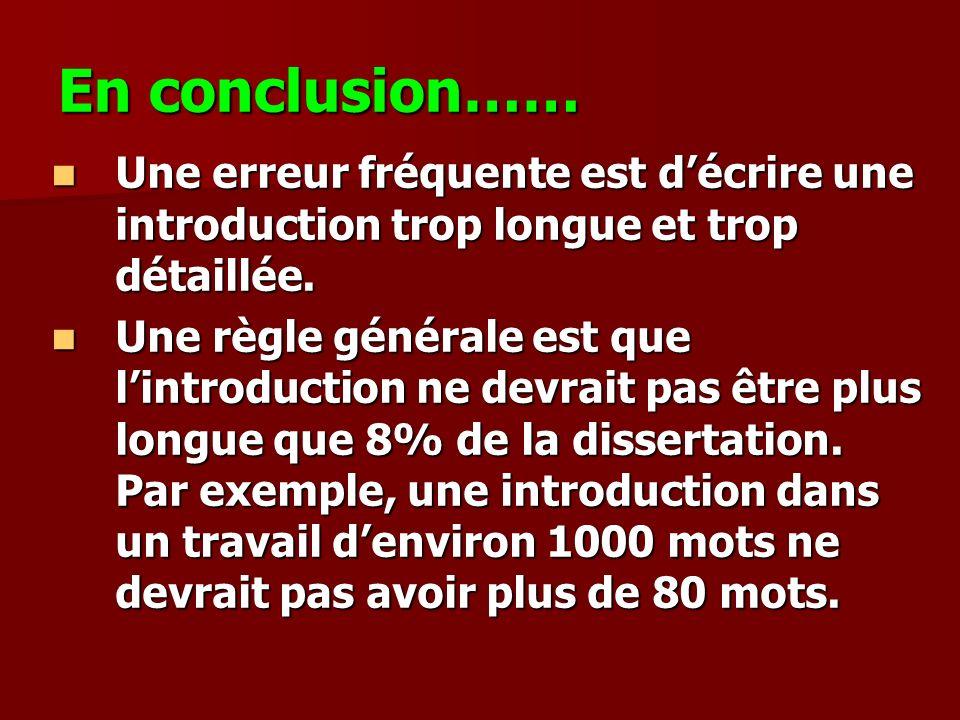 Comment faire une dissertation quest-ce Comment Faire Une Conclusion ...