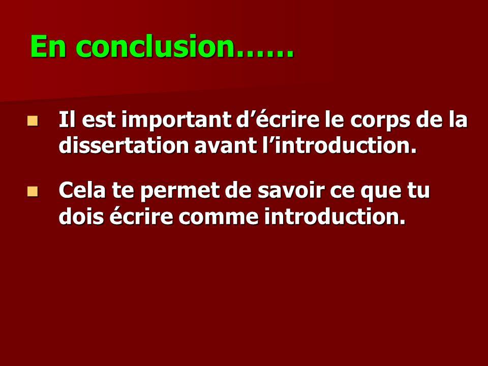 Conclusion De Dissertation