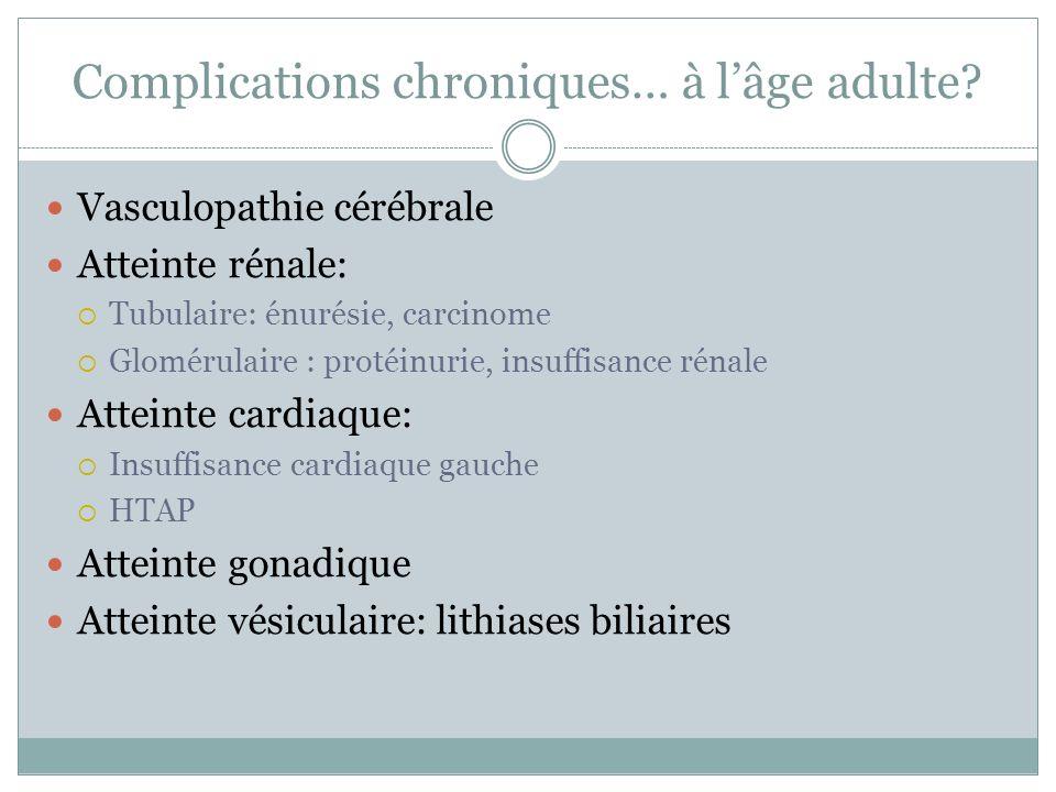 Complications chroniques… à lâge adulte.