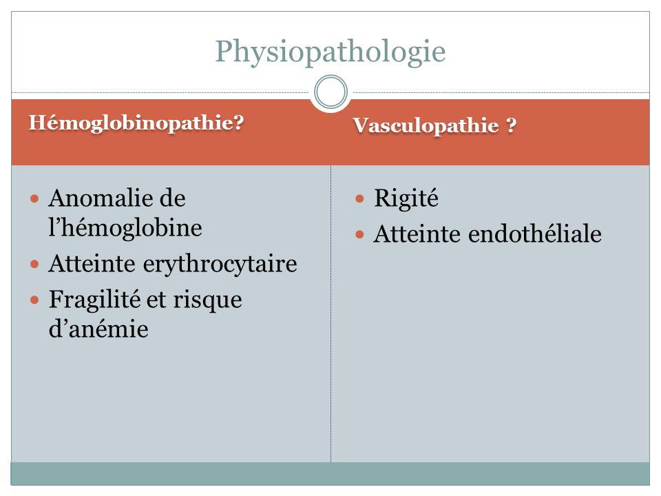 Hémoglobinopathie.Vasculopathie .