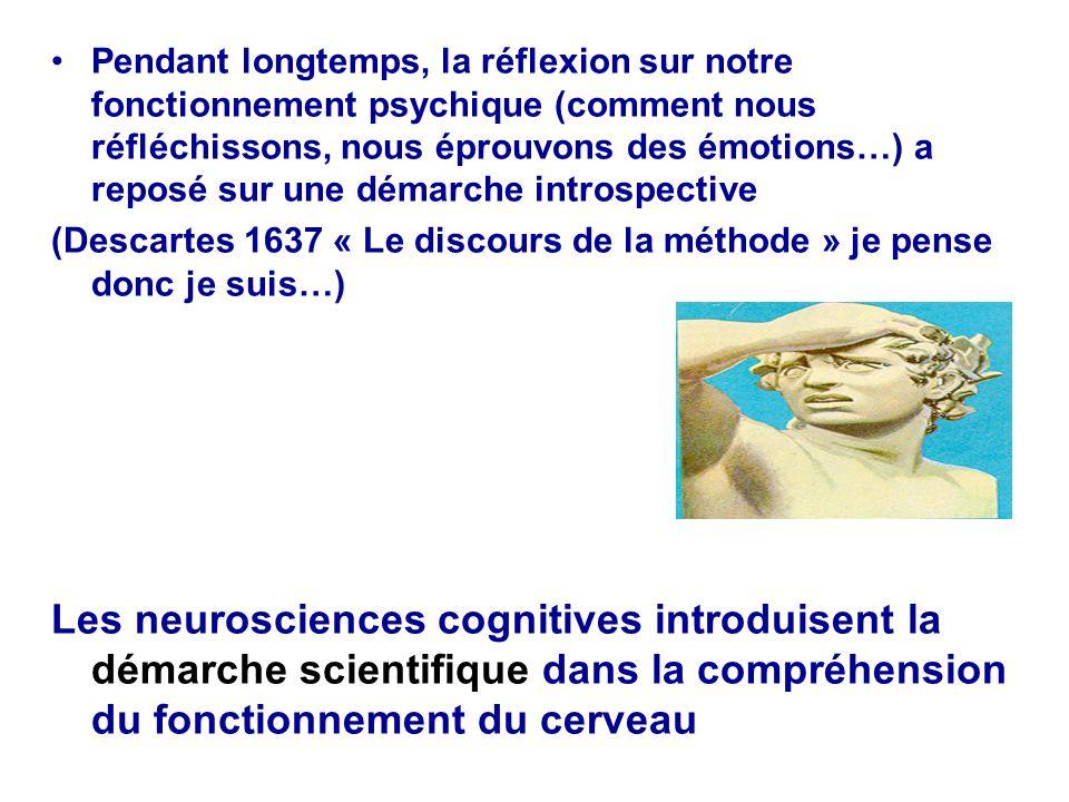 Pendant longtemps, la réflexion sur notre fonctionnement psychique (comment nous réfléchissons, nous éprouvons des émotions…) a reposé sur une démarch