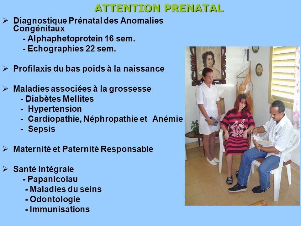 Diagnostique Prénatal des Anomalies Congénitaux - Alphaphetoprotein 16 sem.