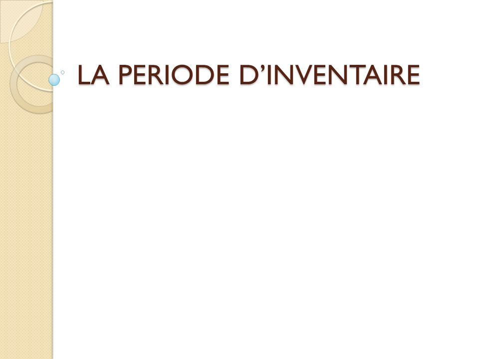 Période dinventaire La technique des PAR La procédure en N-1 Comptabilisation des droits acquis au titre de lexercice N-1 Lordonnateur procède à la liquidation provisoire du montant des recettes nées au cours de lexercice qui va se clore en se fondant sur tous les éléments en sa possession.
