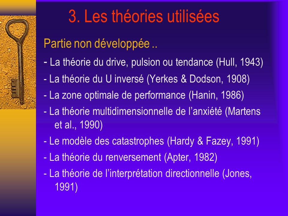 3. Les théories utilisées Partie non développée..