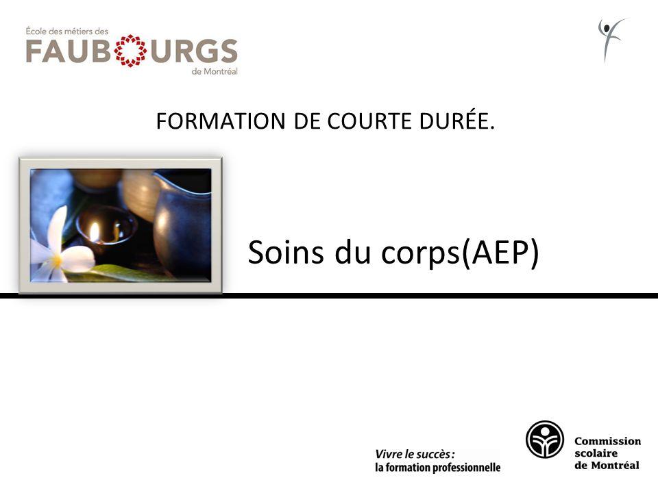 FORMATION DE COURTE DURÉE. Soins du corps(AEP)