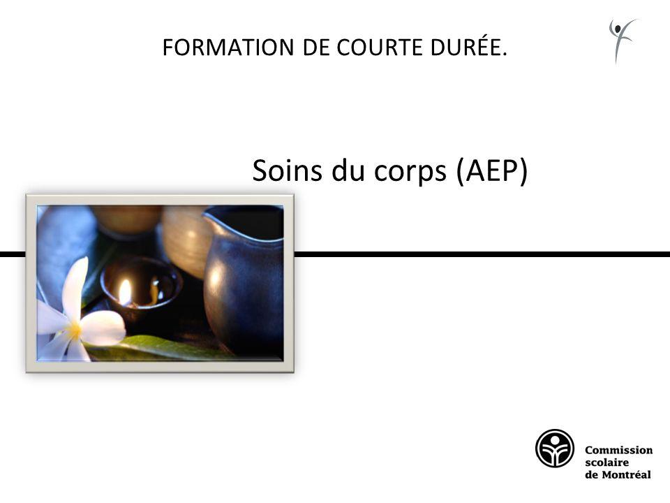 FORMATION DE COURTE DURÉE. Soins du corps (AEP)