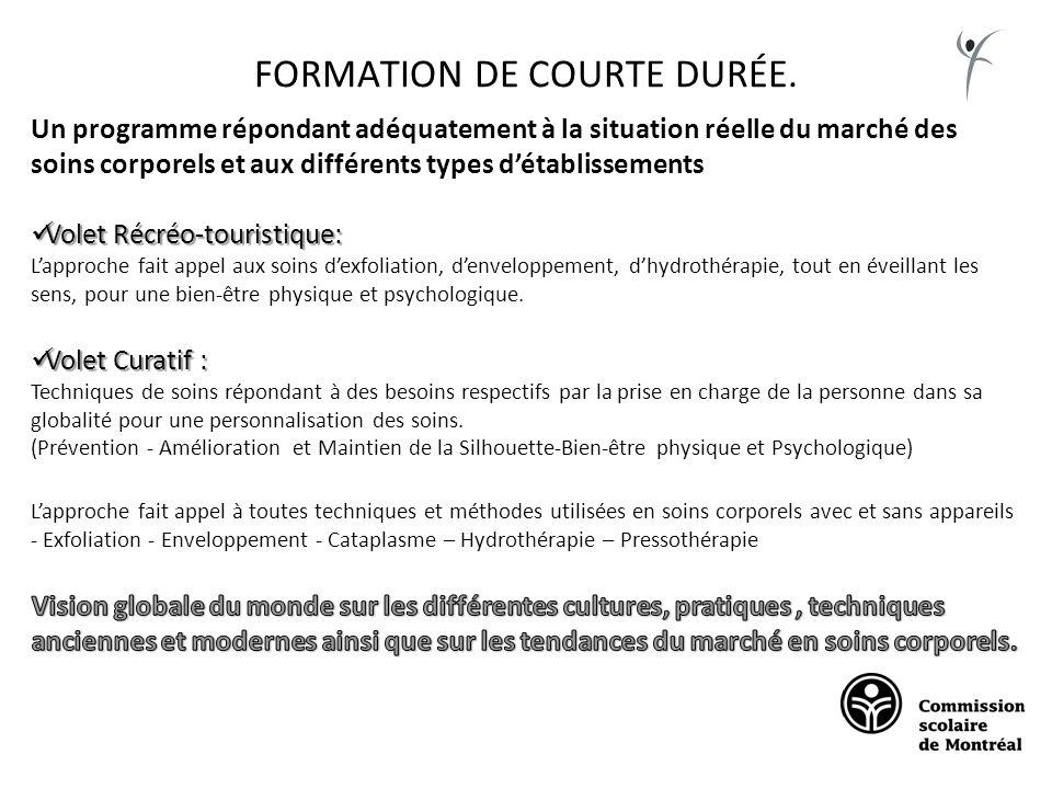 FORMATION DE COURTE DURÉE.