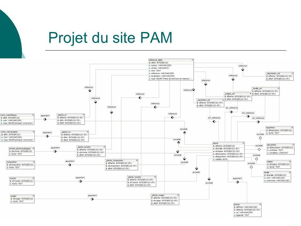 Projet du site PAM