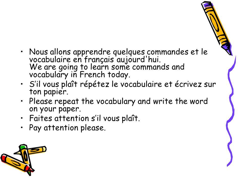Sur ton papier… Je mappelle= my name is Je mappelle: Mme Waters Date=date Date: le 27 juillet 20 Heure=hour Heure: 0, 1, 2, 3, 4, 6