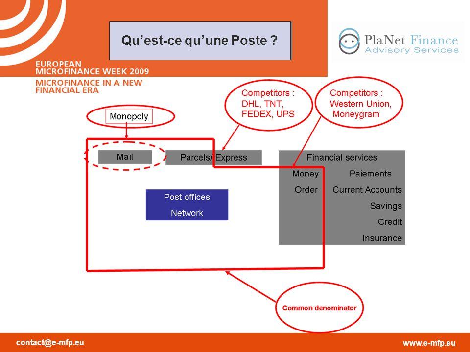 contact@e-mfp.eu www.e-mfp.eu Quest-ce quune Poste ?