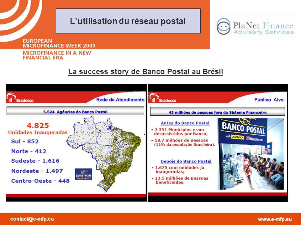 contact@e-mfp.eu www.e-mfp.eu Lutilisation du réseau postal La success story de Banco Postal au Brésil