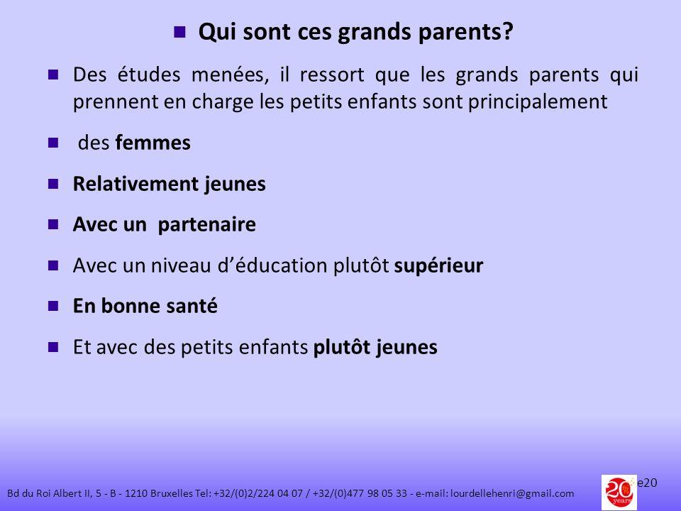 Qui sont ces grands parents? Des études menées, il ressort que les grands parents qui prennent en charge les petits enfants sont principalement des fe