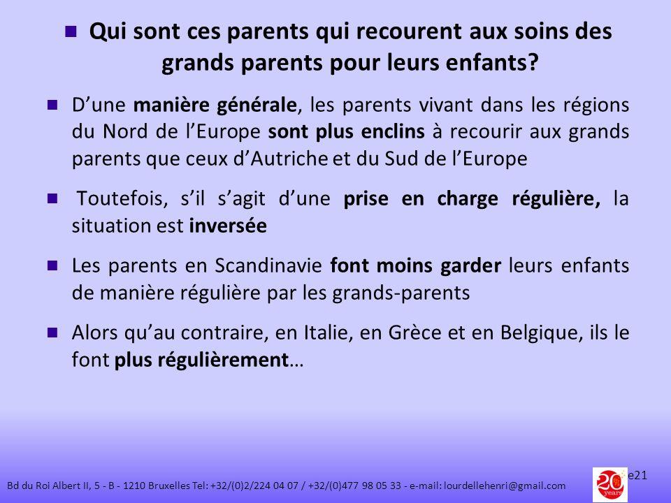Qui sont ces parents qui recourent aux soins des grands parents pour leurs enfants? Dune manière générale, les parents vivant dans les régions du Nord