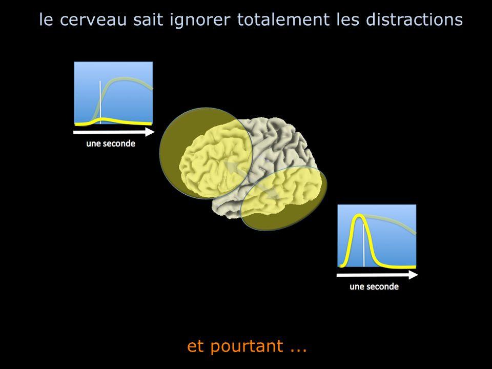 et pourtant... le cerveau sait ignorer totalement les distractions