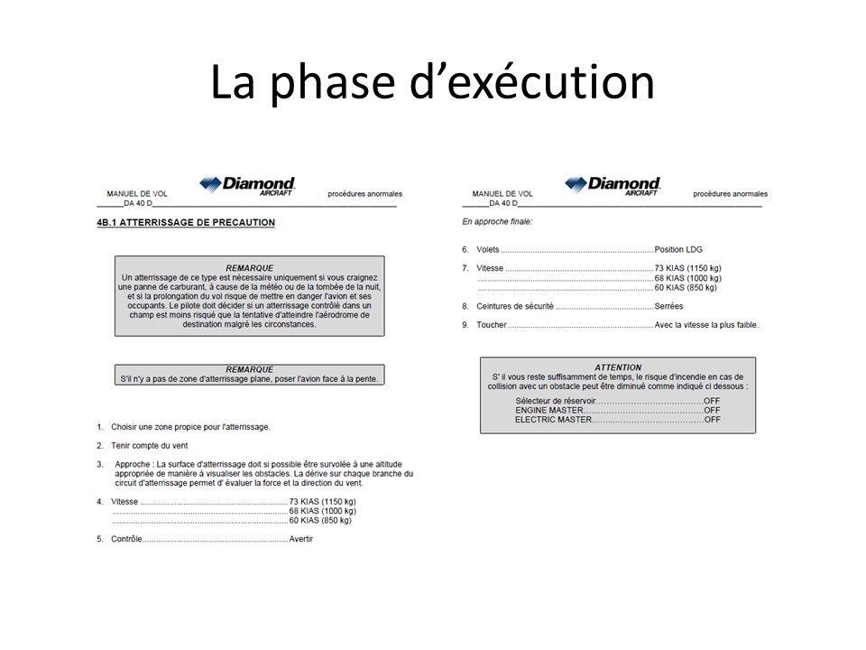 La phase dexécution