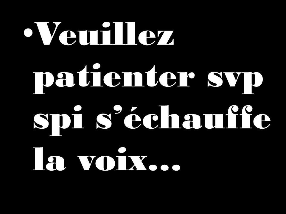 Veuillez patienter svp spi séchauffe la voix…