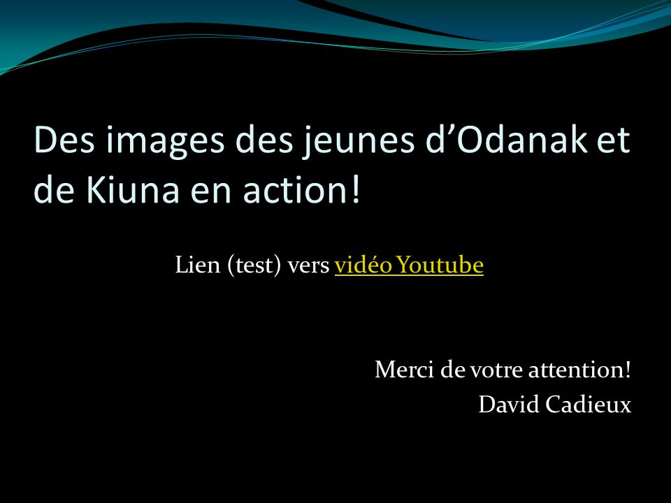 Des images des jeunes dOdanak et de Kiuna en action.