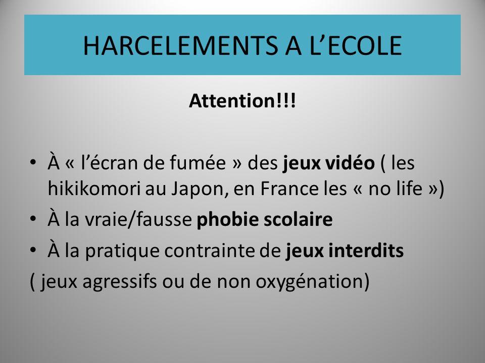 HARCELEMENTS A LECOLE Attention!!.