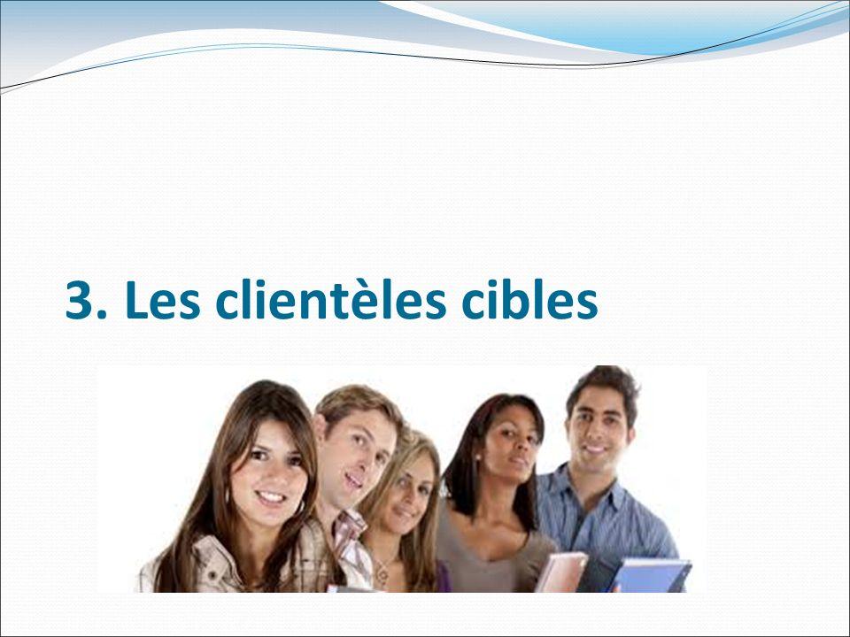 3. Les clientèles cibles