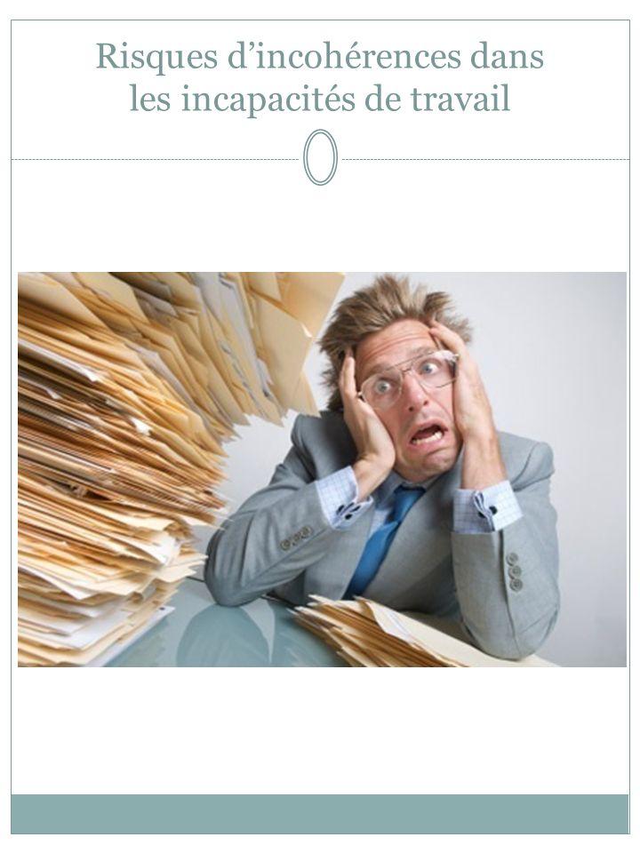 Risques dincohérences dans les incapacités de travail