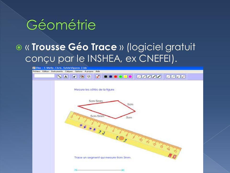 « Trousse Géo Trace » (logiciel gratuit conçu par le INSHEA, ex CNEFEI).