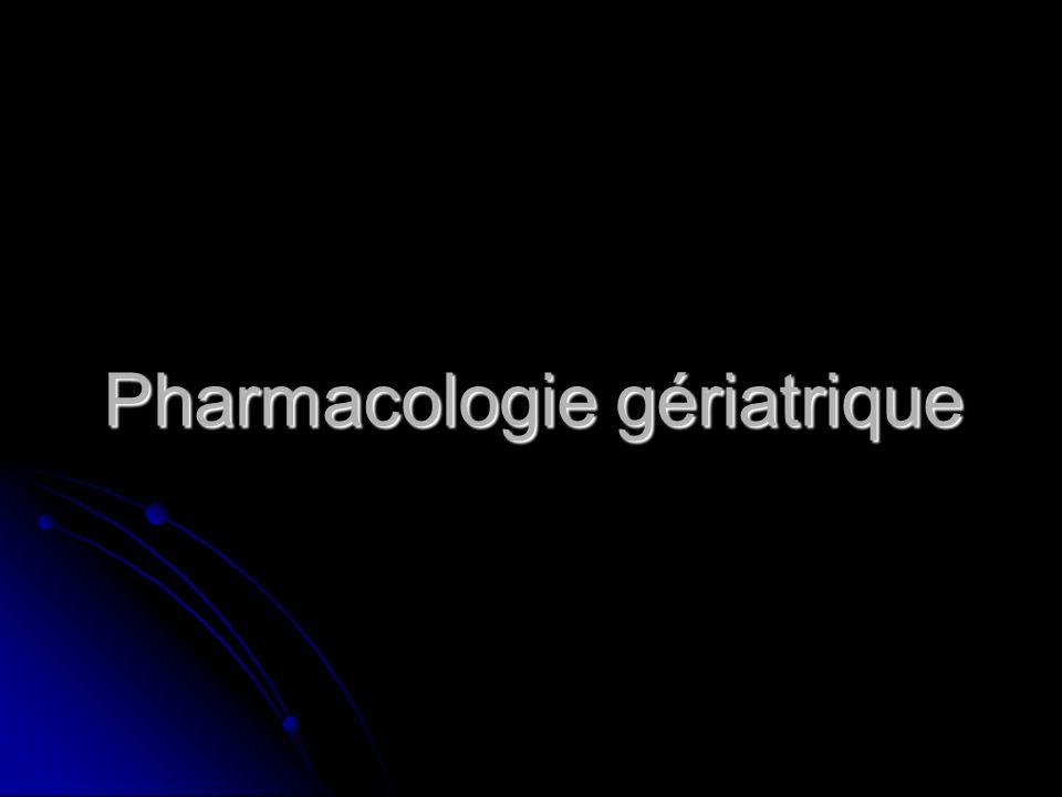 Modifications pharmacodynamiques