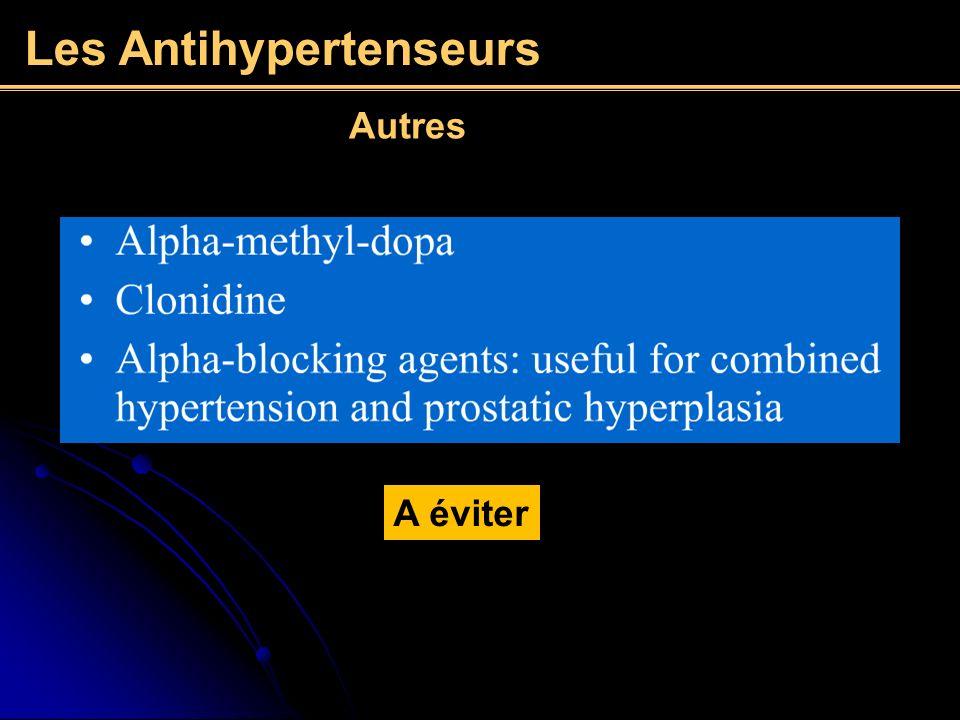 Les Antihypertenseurs A éviter Autres