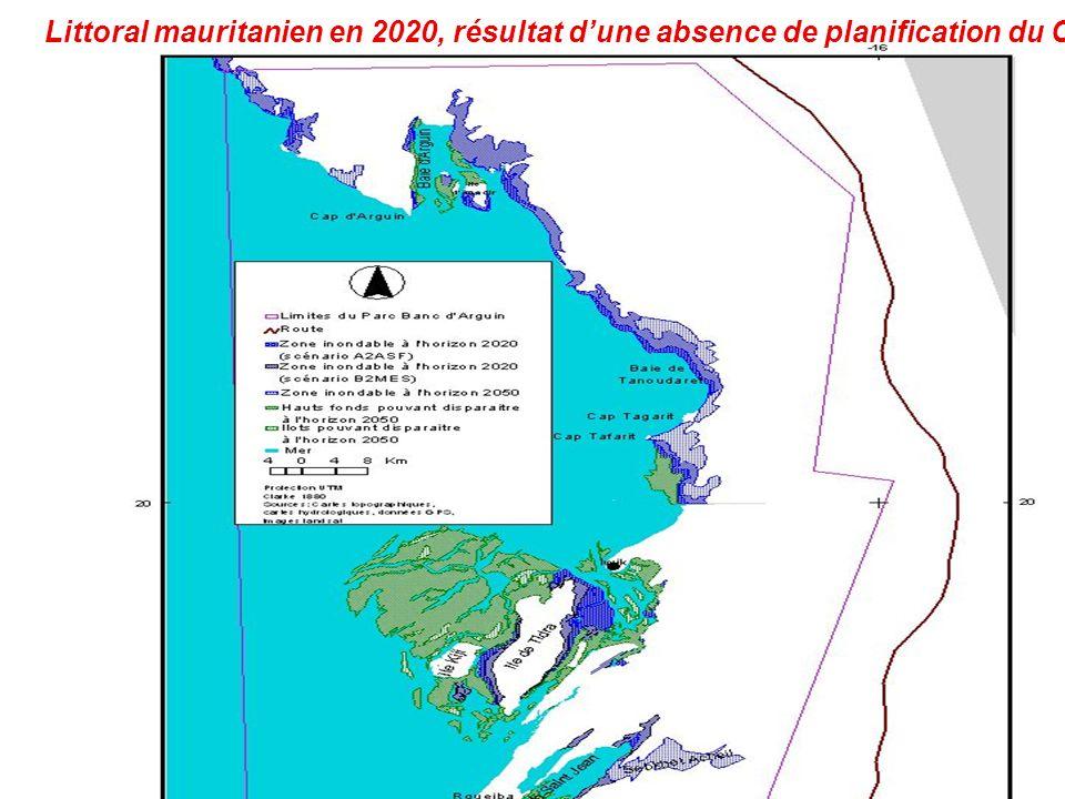 Littoral mauritanien en 2020, résultat dune absence de planification du CC