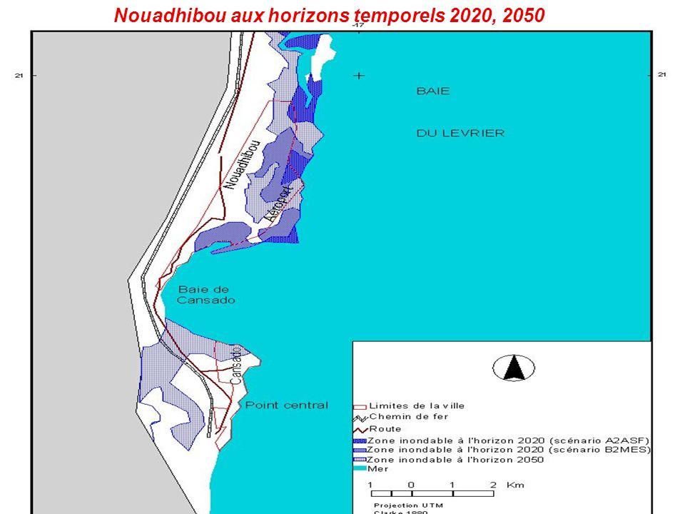Nouadhibou aux horizons temporels 2020, 2050