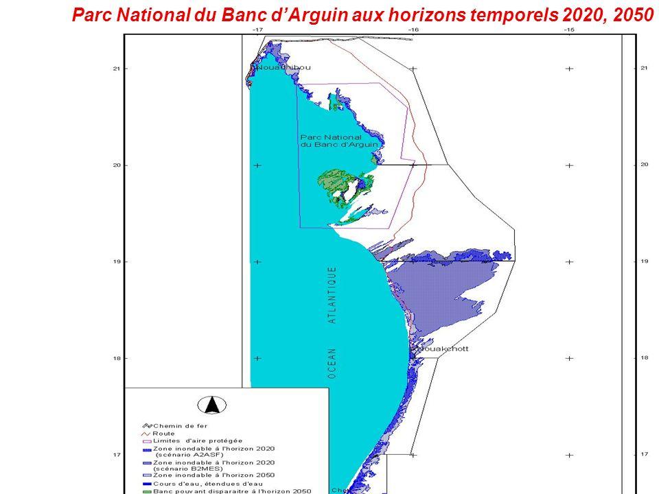 Parc National du Banc dArguin aux horizons temporels 2020, 2050