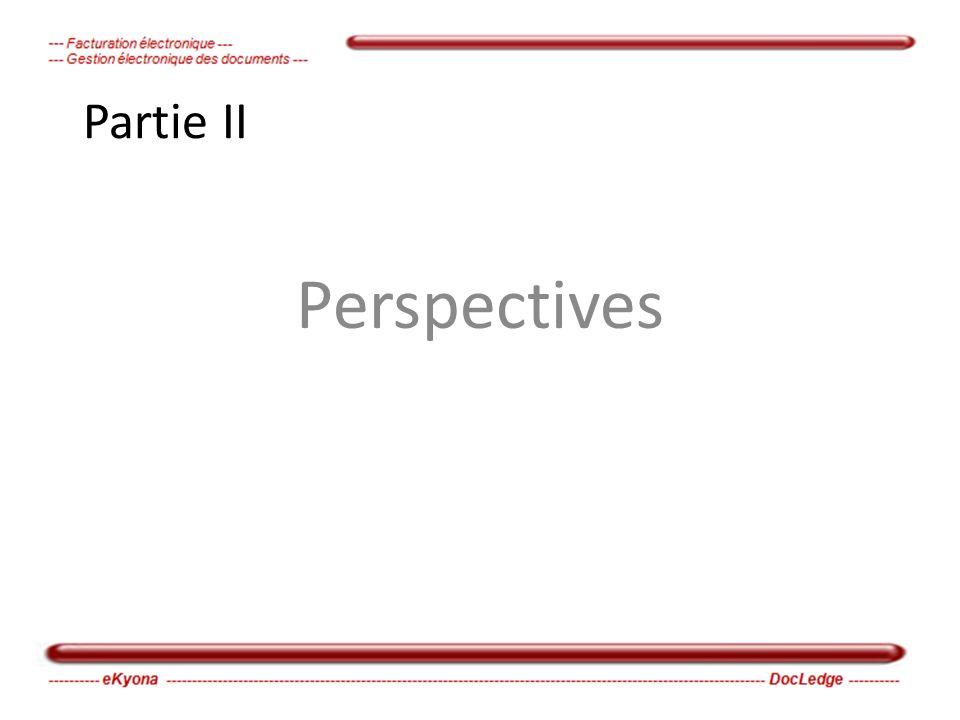 Partie II Perspectives