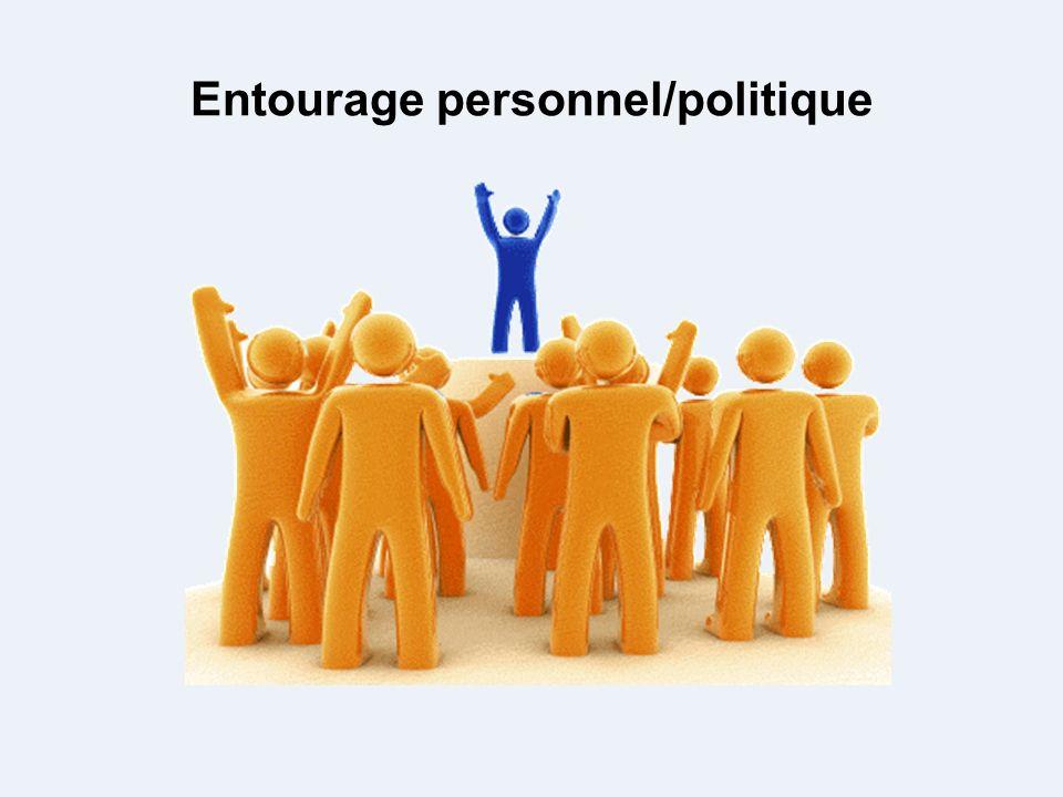 Entourage personnel/politique