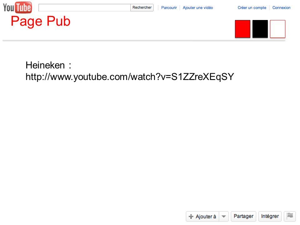Page Pub Heineken : http://www.youtube.com/watch?v=S1ZZreXEqSY
