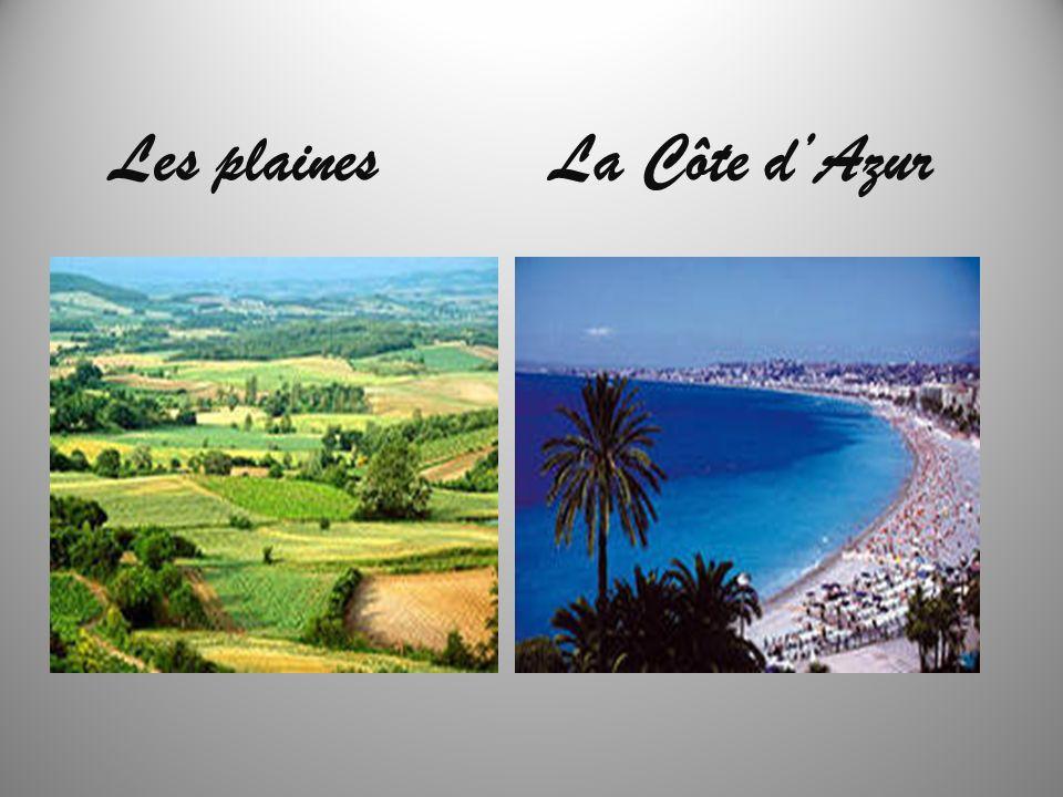 Les plainesLa Côte dAzur