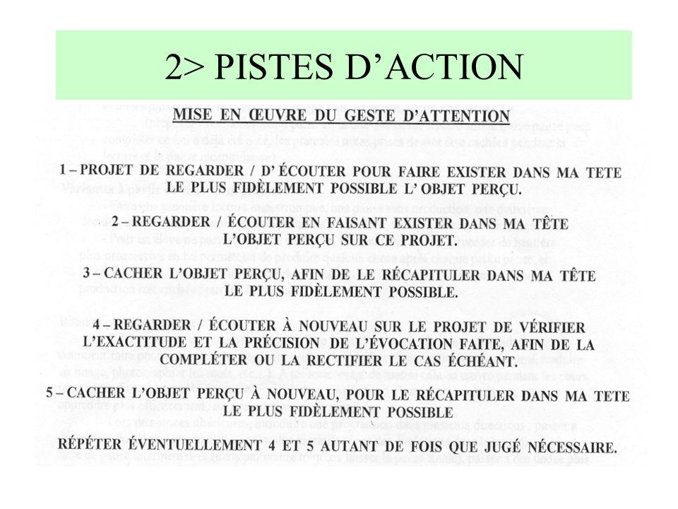 2> PISTES DACTION