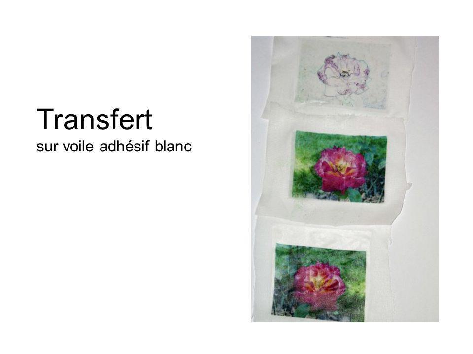 Transfert sur voile adhésif blanc