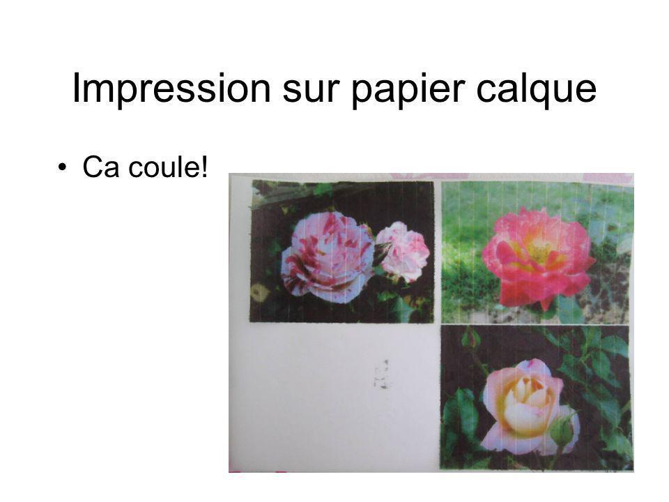 Impression sur papier calque Ca coule!