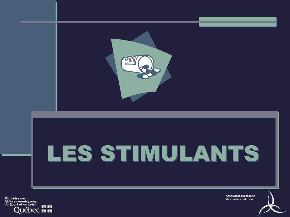 Association québécoise des médecins du sport LES STIMULANTS