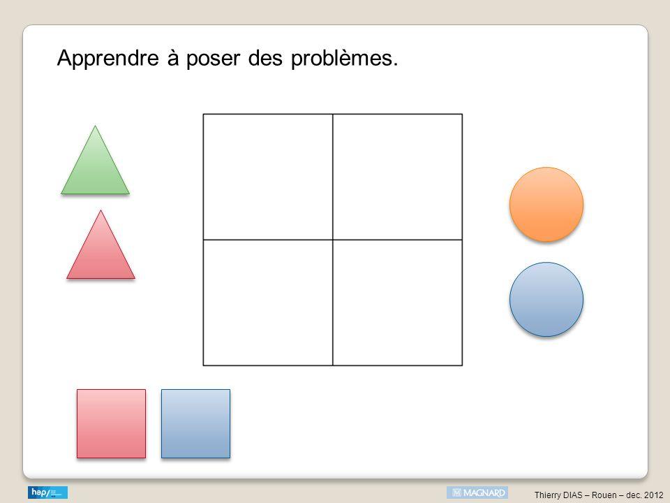 Apprendre à poser des problèmes.