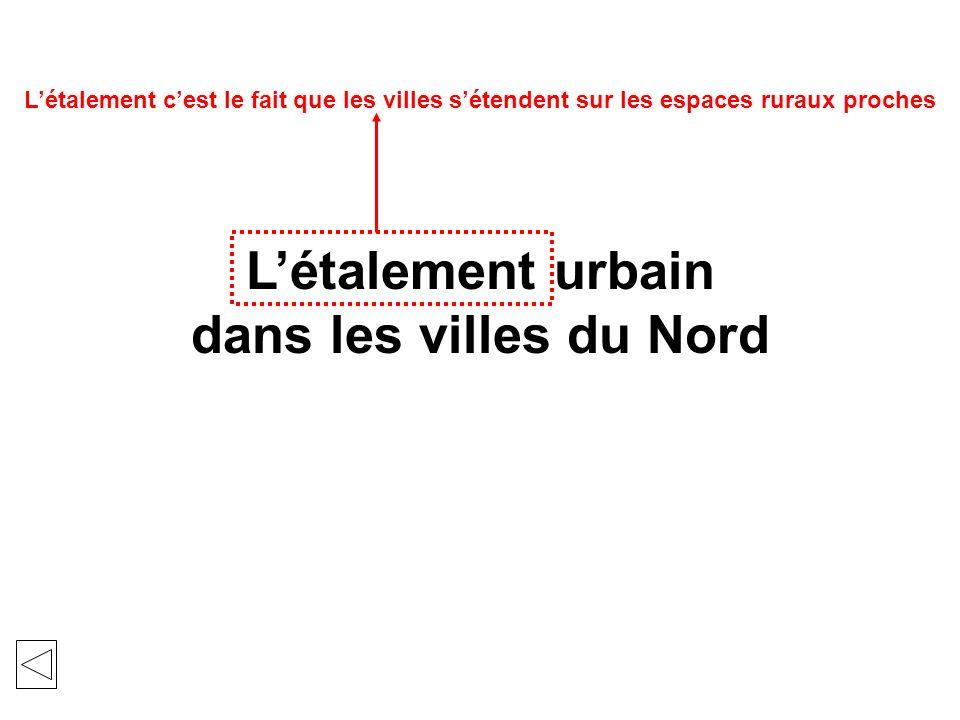 Létalement urbain dans les villes du Nord Une ville se définit par une forte concentration de population dans un espace densément bâti