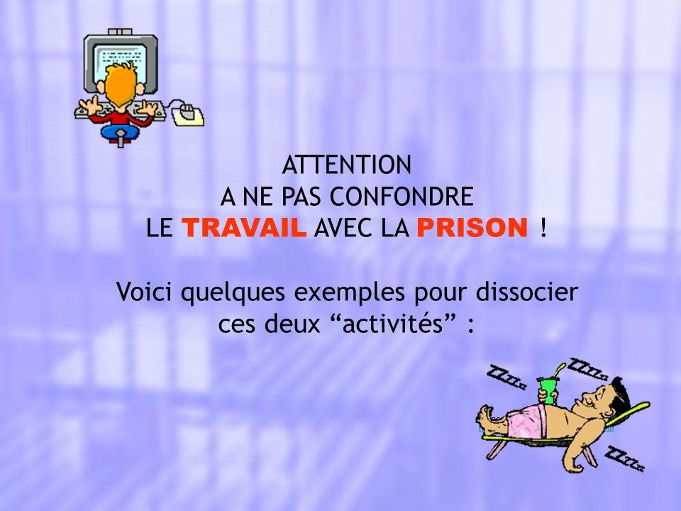 Prison : Tu passes la majorité de ton temps dans une cellule de 2 X 3 m.