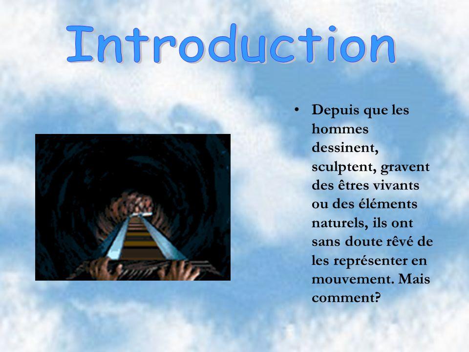 Introduction Histoire des images animées Objectif visé Mécanisme Quelques dates Histoire du cinéma