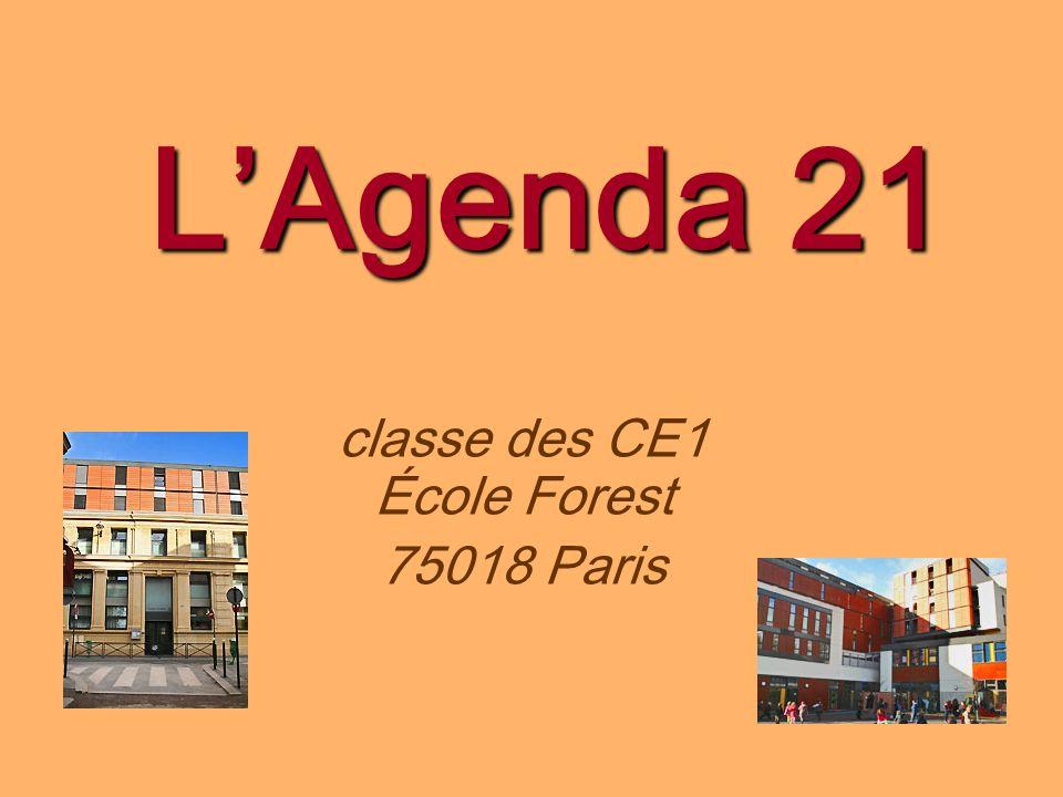 LAgenda 21 classe des CE1 École Forest 75018 Paris