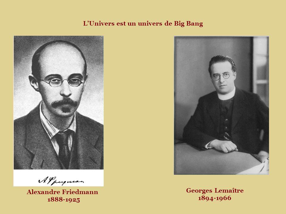 Alexandre Friedmann 1888-1925 LUnivers est un univers de Big Bang Georges Lemaître 1894-1966