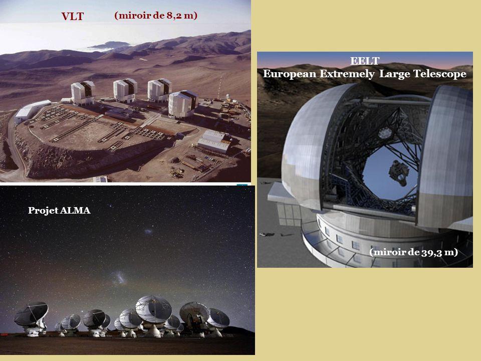 EELT European Extremely Large Telescope VLT (miroir de 8,2 m) (miroir de 39,3 m) Projet ALMA
