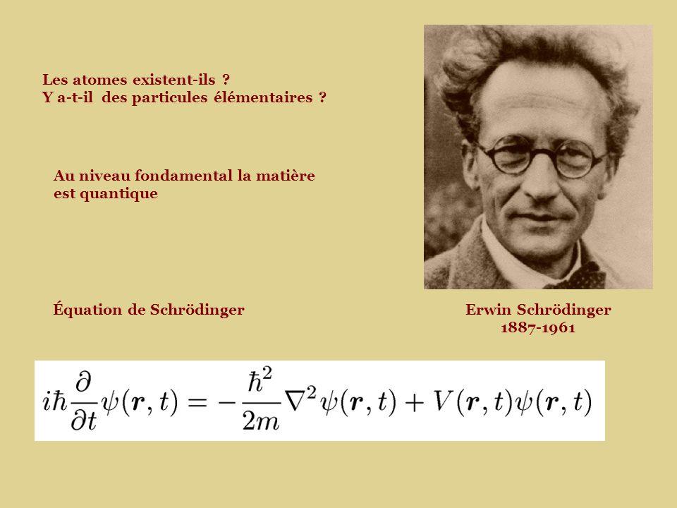 Équation de SchrödingerErwin Schrödinger 1887-1961 Les atomes existent-ils .