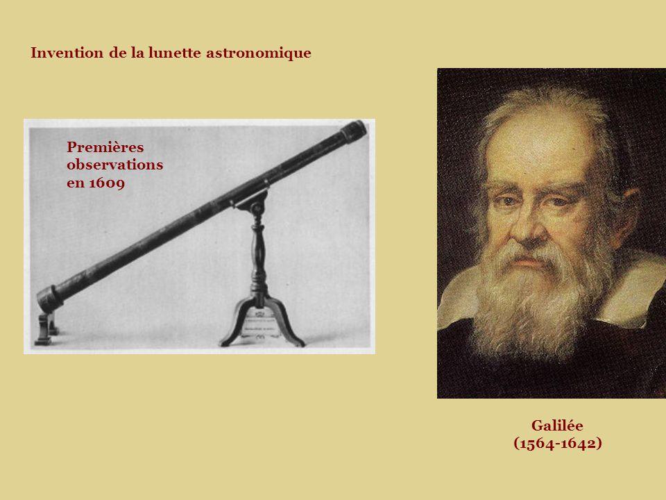 Galilée (1564-1642) Invention de la lunette astronomique Premières observations en 1609