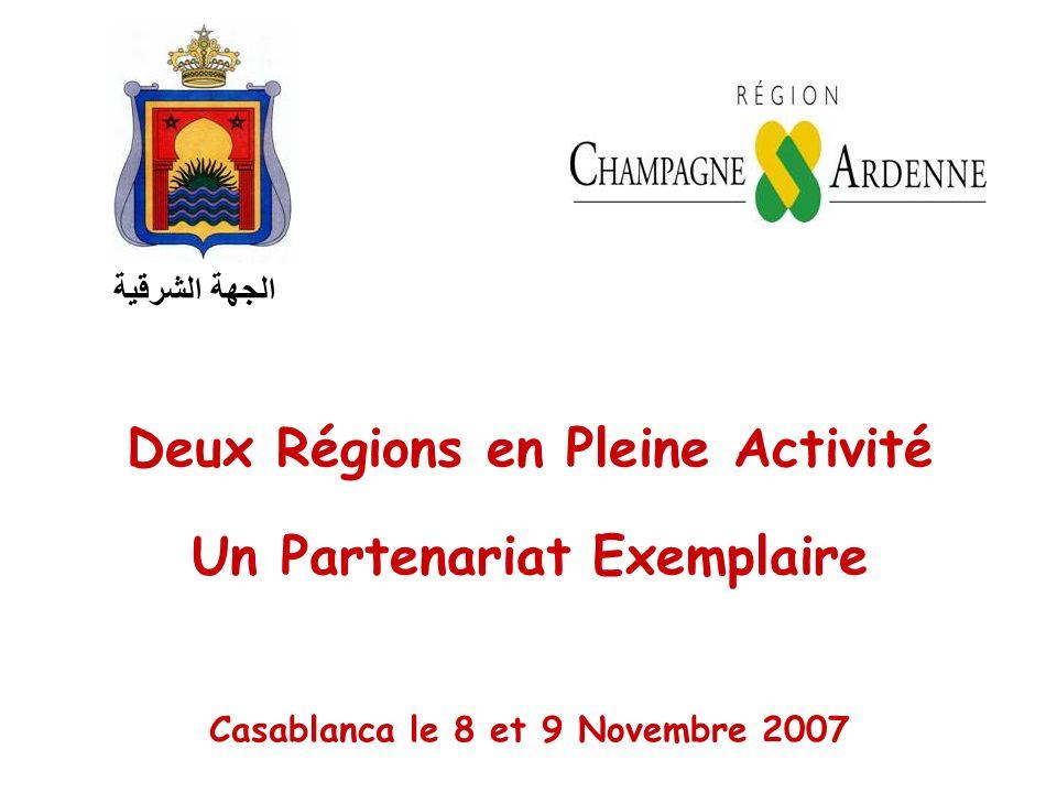 Deux Régions en Pleine Activité Un Partenariat Exemplaire Casablanca le 8 et 9 Novembre 2007 الجهة الشرقية