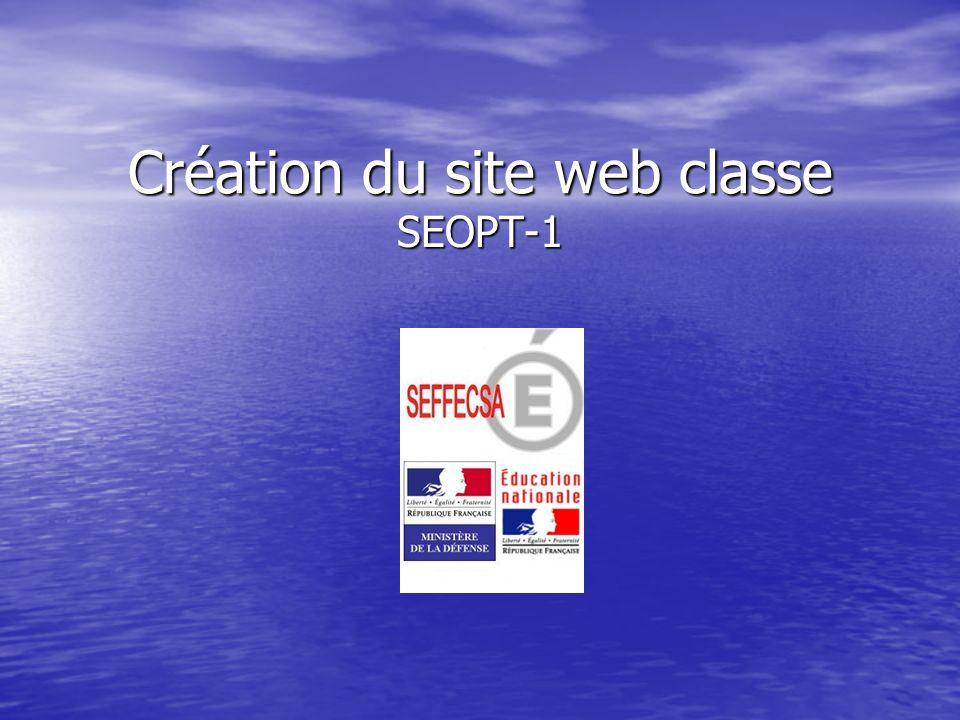 Création du site web classe SEOPT-1